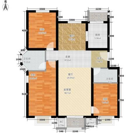 鸿福嘉苑3室0厅2卫1厨141.00㎡户型图