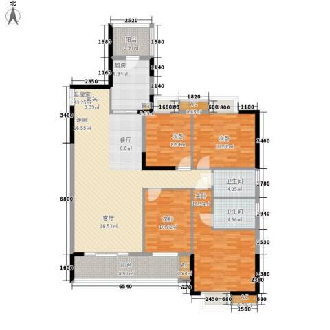 红塔汇翠山庄4室0厅2卫1厨152.00㎡户型图
