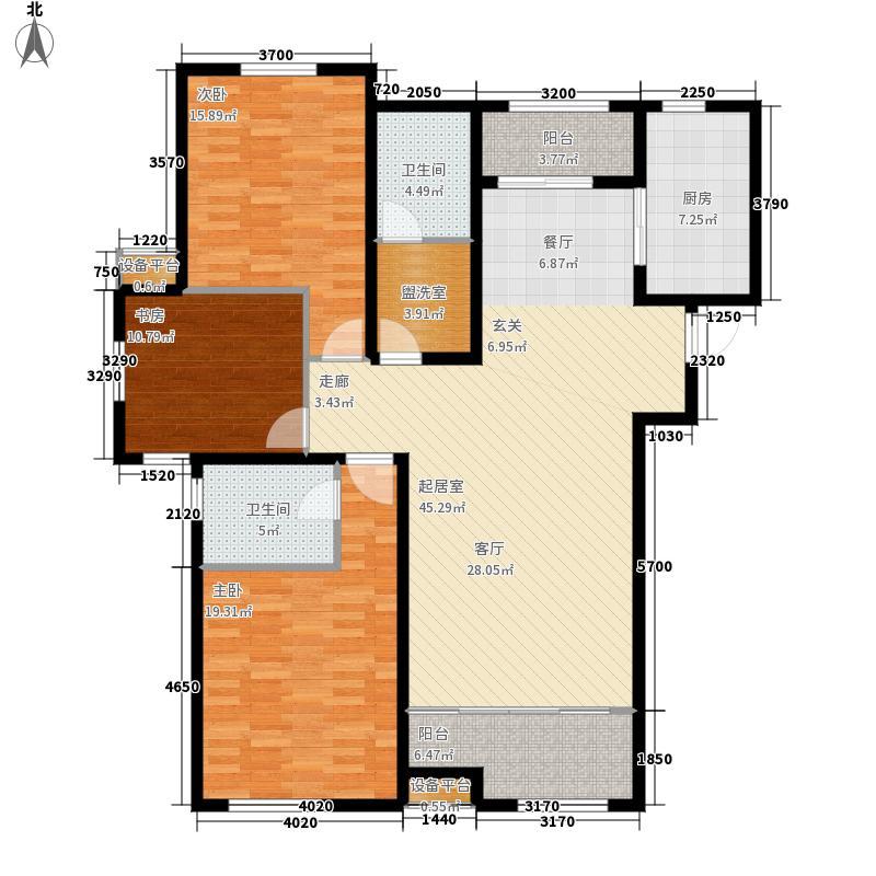 鲁邦奥林逸城E户型3室2厅