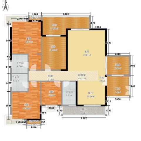 光大花园榕岸4室0厅3卫1厨164.00㎡户型图