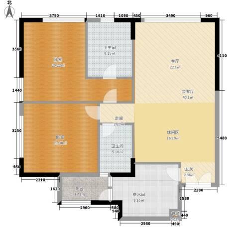富力爱丁堡国际公寓2卫0厨124.00㎡户型图
