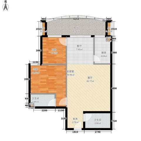 益鹏翠苑2室0厅2卫1厨99.00㎡户型图
