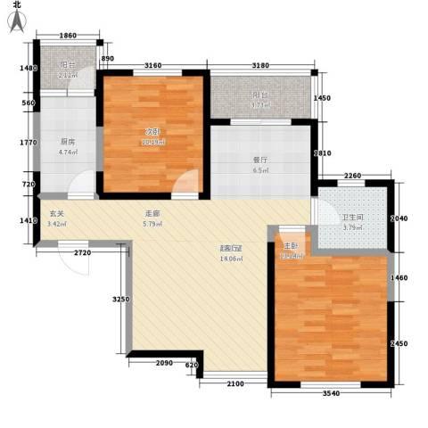 高新左岸2室0厅1卫1厨98.00㎡户型图