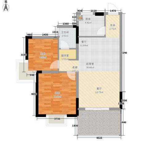 宜居莱茵城2室0厅1卫1厨90.00㎡户型图