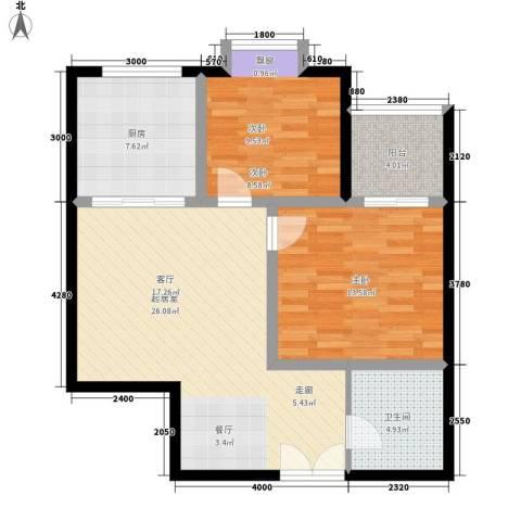 中菲香槟城2室0厅1卫1厨74.00㎡户型图