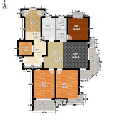 中新城小区3室0厅1卫1厨126.60㎡户型图