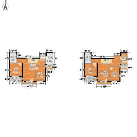 嘉美广场4室0厅2卫1厨182.00㎡户型图