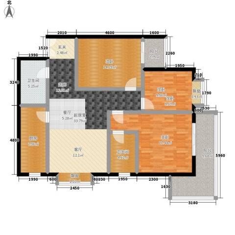 中菲香槟城3室0厅2卫1厨121.00㎡户型图