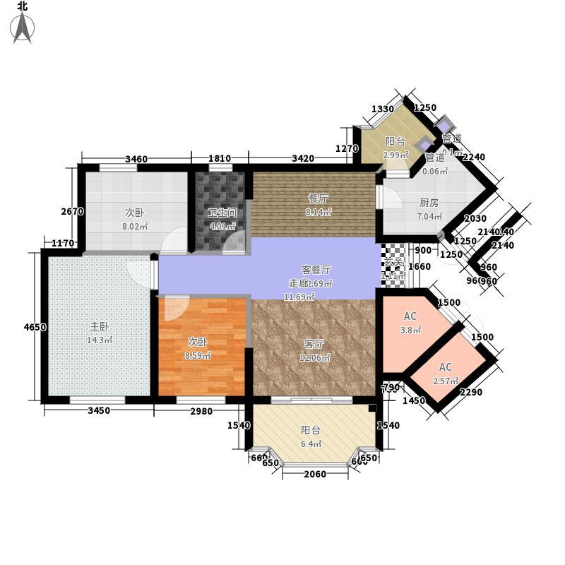 祈福新村活力花园102.69㎡10座03面积10269m户型