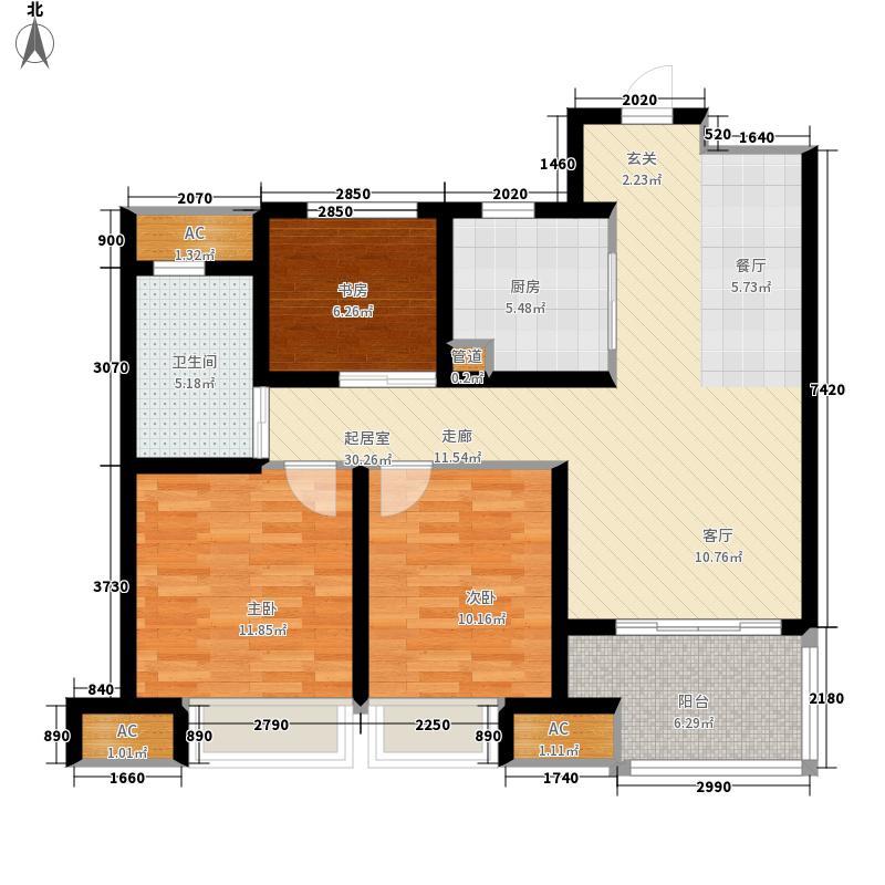 绿地滨湖国际城89.00㎡一期小户型3室2厅