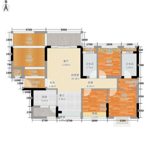 上一居3室0厅2卫1厨130.00㎡户型图
