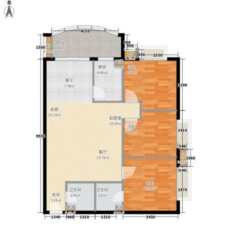 益鹏翠苑3室0厅2卫1厨111.00㎡户型图