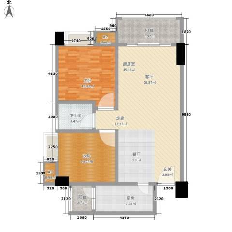 东苑花园2室0厅1卫1厨142.00㎡户型图