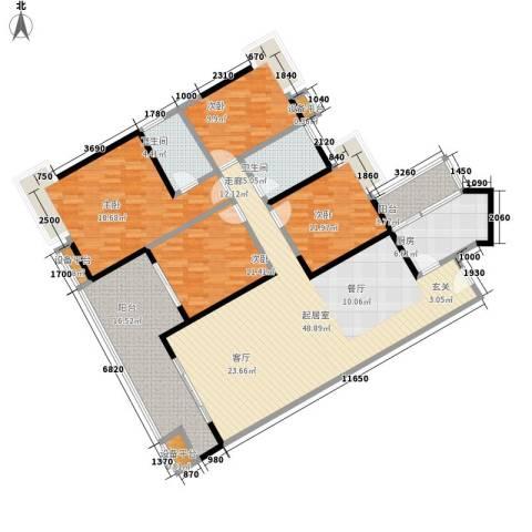 光大花园榕岸4室0厅2卫1厨155.00㎡户型图