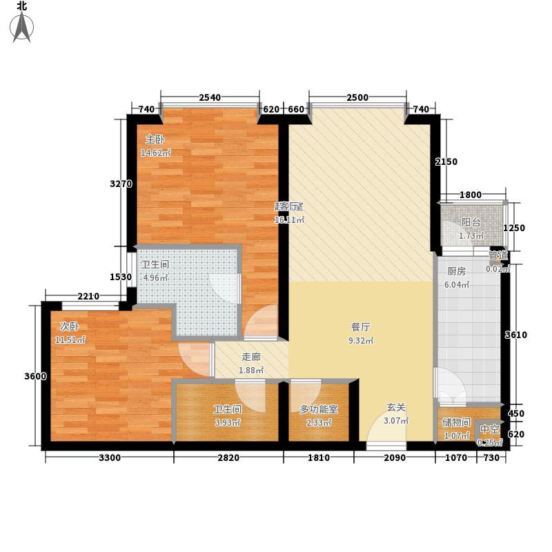 朝庭公寓2号楼C座B户型