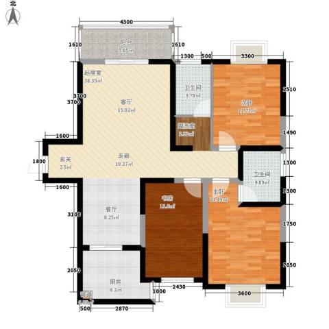 太白里3室0厅2卫1厨130.00㎡户型图