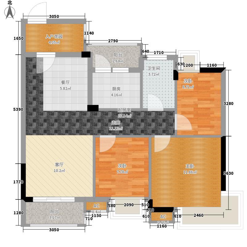 香市1号87.00㎡3栋2单元标准层0面积8700m户型
