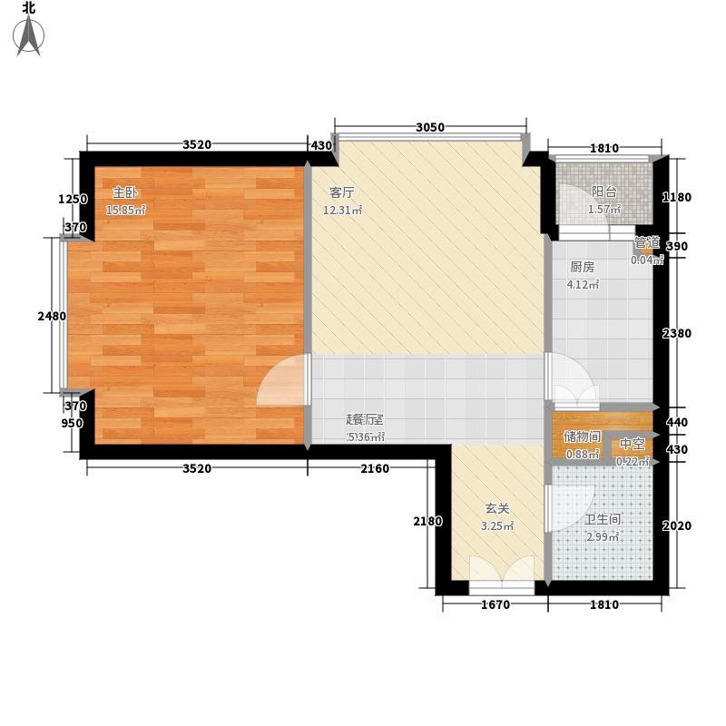 朝庭公寓63.00㎡1号楼A面积6300m户型