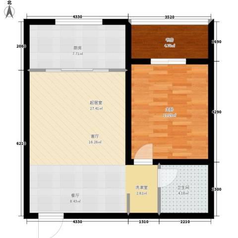 唐乐宫2室0厅1卫1厨65.00㎡户型图