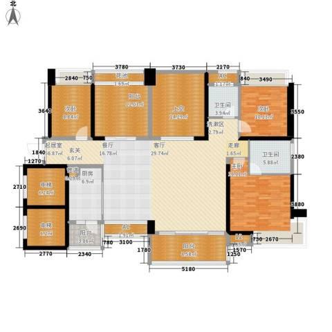 葡萄庄园左岸3室0厅2卫1厨164.78㎡户型图