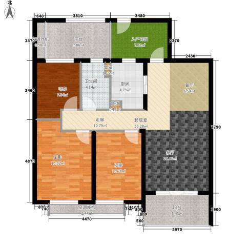万科国际广场3室0厅1卫1厨100.00㎡户型图