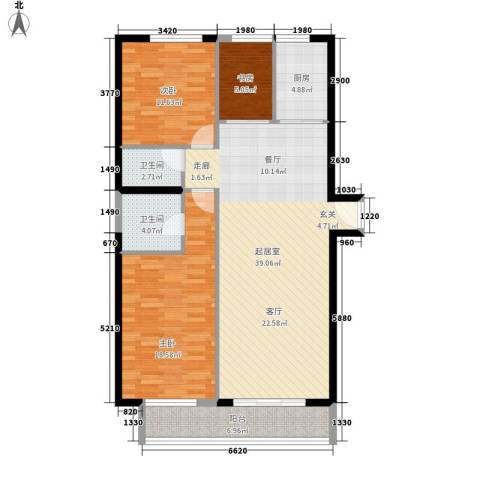 颐和宫3室0厅2卫1厨140.00㎡户型图
