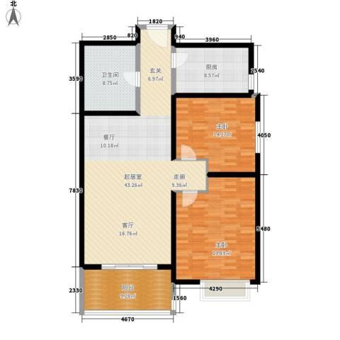 紫竹大厦2室0厅1卫1厨117.00㎡户型图