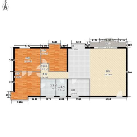 世纪华庭3室0厅2卫1厨186.00㎡户型图