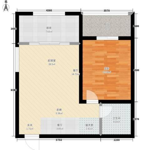 崇立苑1室0厅1卫1厨65.00㎡户型图