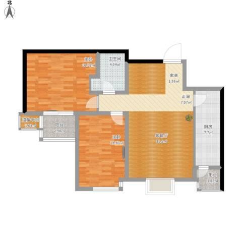 明湖・白鹭郡2室1厅1卫1厨112.00㎡户型图