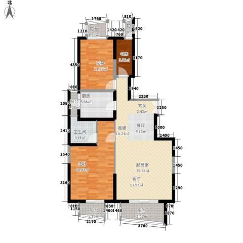 就掌灯3室0厅1卫1厨104.00㎡户型图