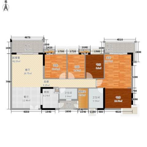 云山诗意4室0厅2卫1厨158.00㎡户型图