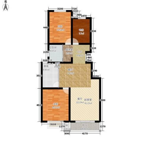 富润家园3室0厅1卫1厨106.00㎡户型图