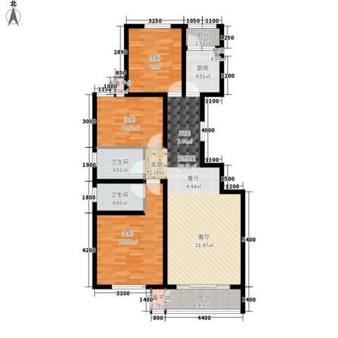 六合轩府3室0厅2卫1厨134.00㎡户型图