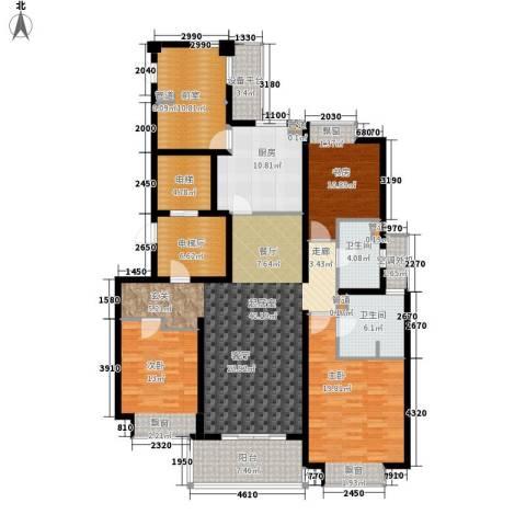 万科国际广场3室0厅2卫1厨140.14㎡户型图