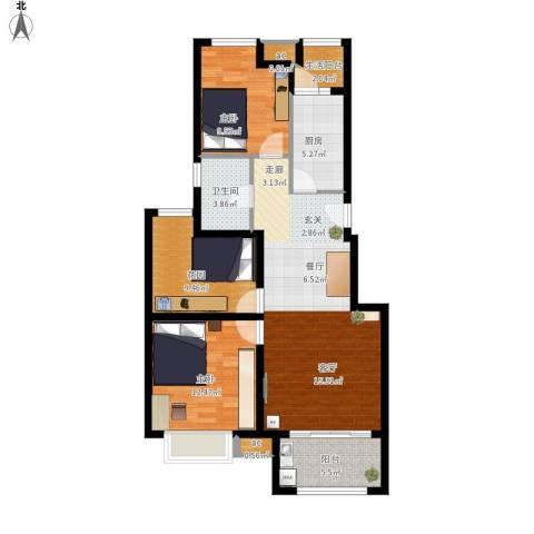 同润菲诗艾伦2室1厅1卫1厨111.00㎡户型图