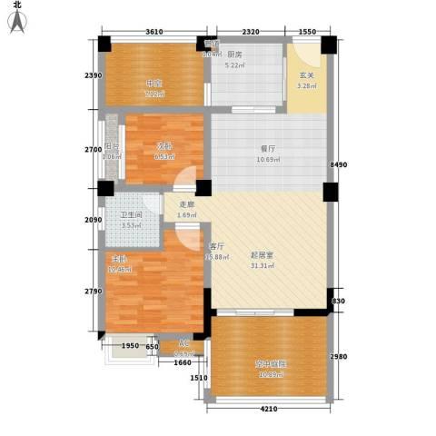华盛世纪新城2室0厅1卫1厨112.00㎡户型图