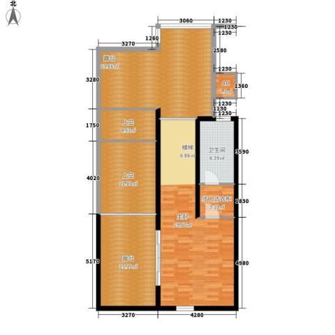 中新公寓1室0厅1卫0厨135.00㎡户型图