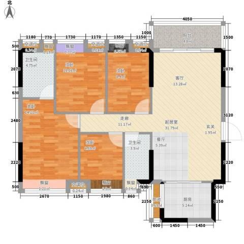 居益凯景中央4室0厅2卫1厨112.00㎡户型图