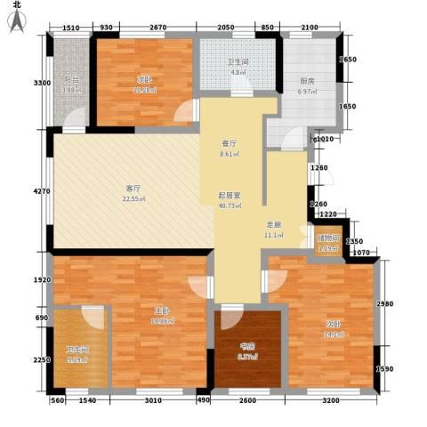 军安商住4室0厅2卫1厨112.47㎡户型图