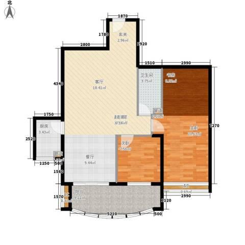益鹏翠苑2室0厅1卫1厨99.00㎡户型图