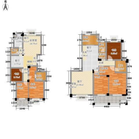中江国际花城6室0厅0卫2厨136.00㎡户型图