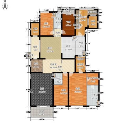 万科国际广场4室0厅3卫0厨226.07㎡户型图