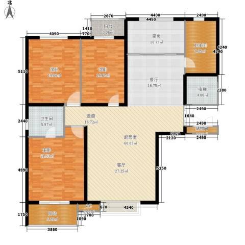 唐城宾馆家属院3室0厅2卫1厨169.00㎡户型图