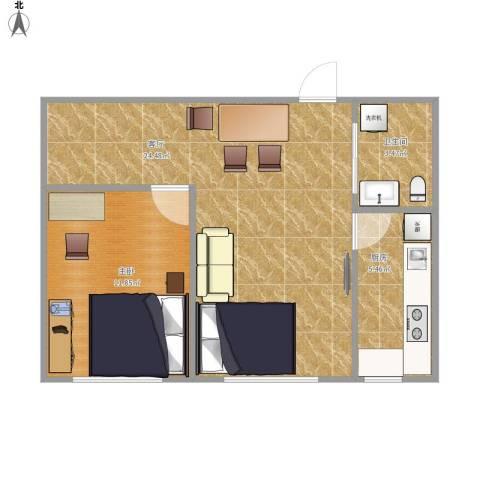 永升嘉园1室1厅1卫1厨61.00㎡户型图