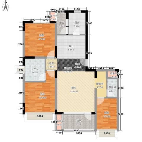 银安花园3室0厅2卫1厨113.00㎡户型图