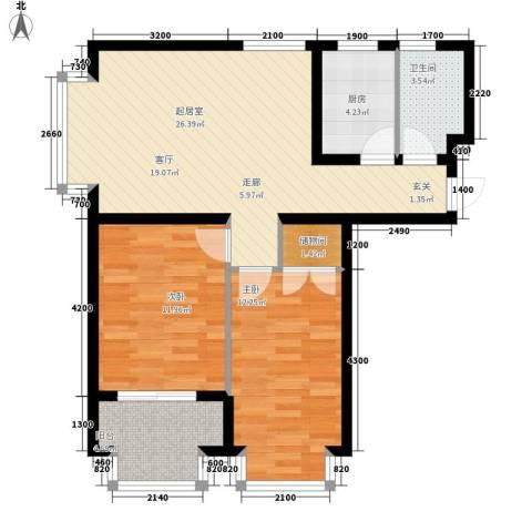 恒益翠芳庭2室0厅1卫1厨93.00㎡户型图