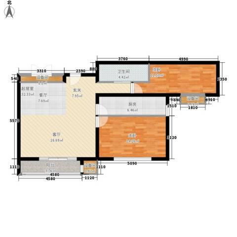 马驹桥保障性住房项目2室0厅1卫1厨85.00㎡户型图
