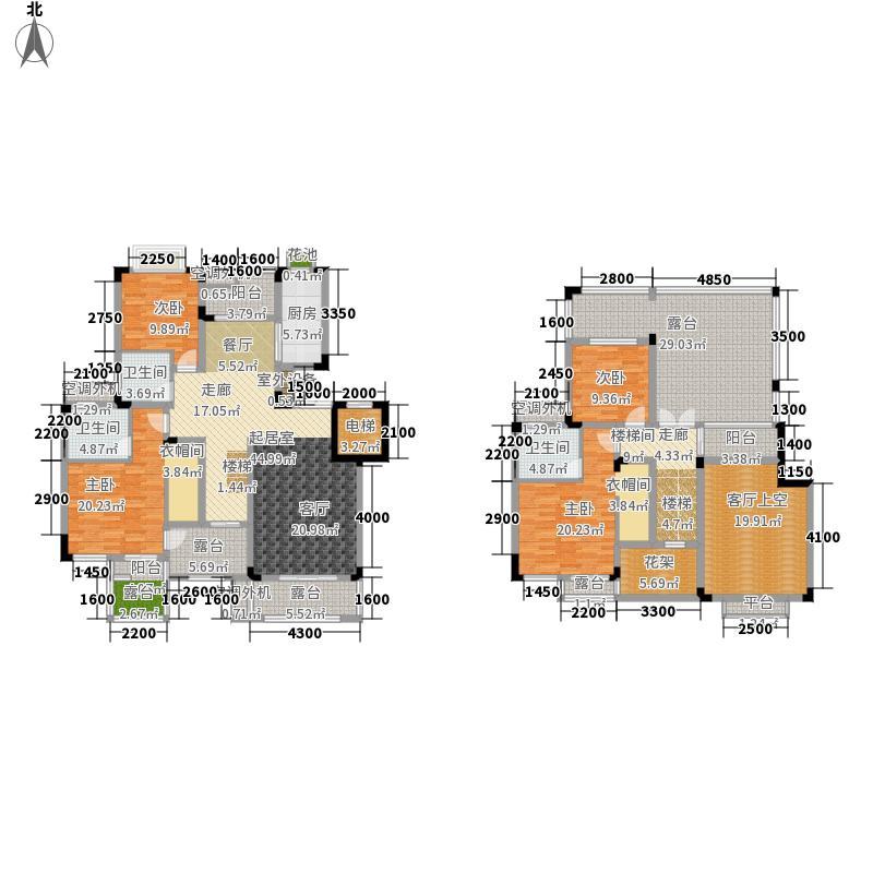 和泓四季156.00㎡二期洋房B6户型 4室2厅3卫 建面182平米户型4室2厅3卫