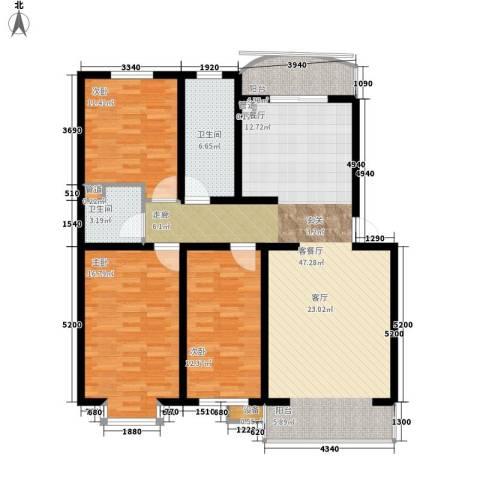 绵绣家园丽水湾3室1厅2卫0厨117.00㎡户型图